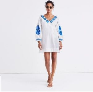 Madewell J. Crew Blanca Embroidered Shift Dress